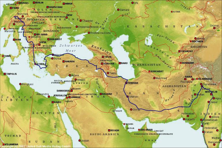 Planung der reiseroute
